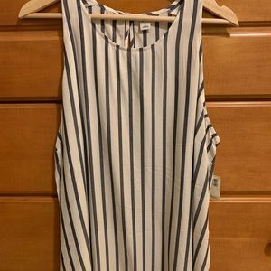 Old Navy white and blue striped tank